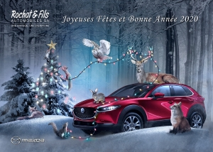 Carte de Noël Mazda